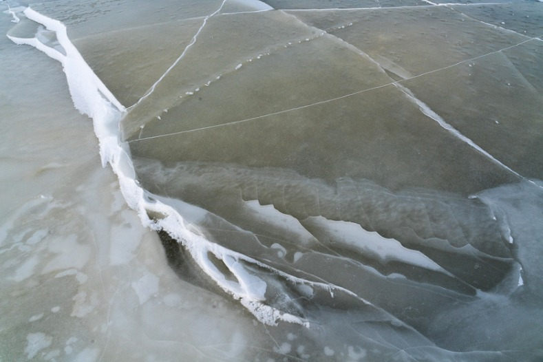 Abstract Ice patterns near Churchill, Manitoba