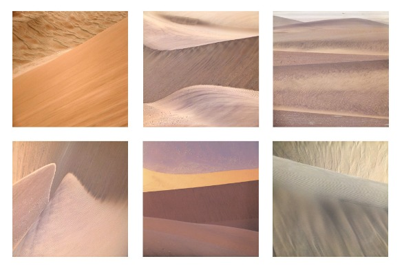 6 photos of sand from Namibia