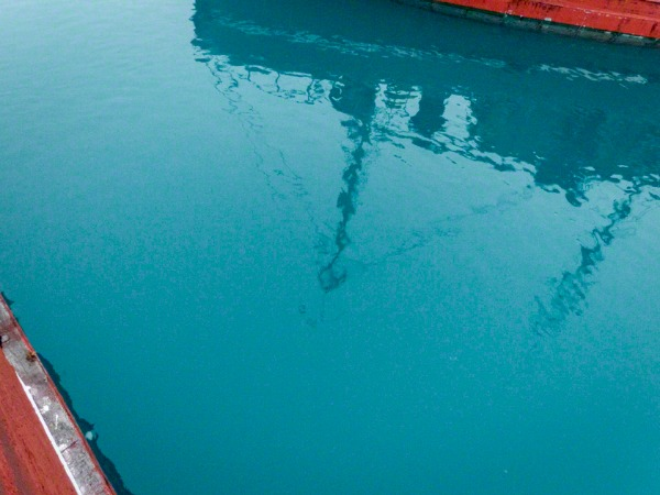 boats reflections in Greenland