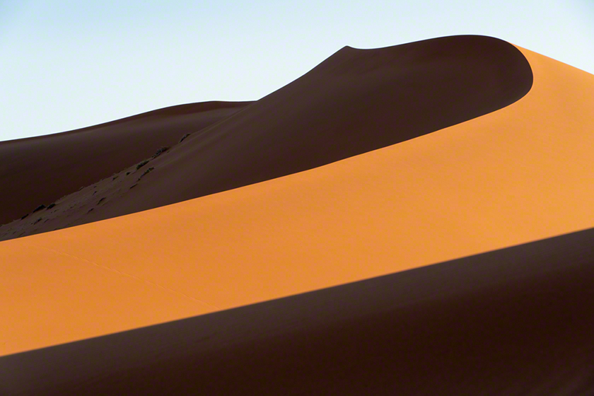 Photograph of sand dunes in Namibia, Africa