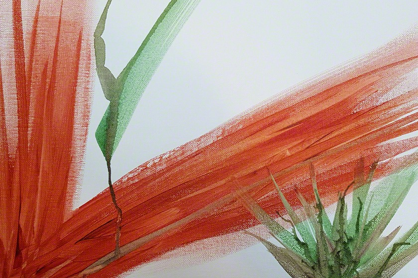 Abstract Acrylic painting of agaves