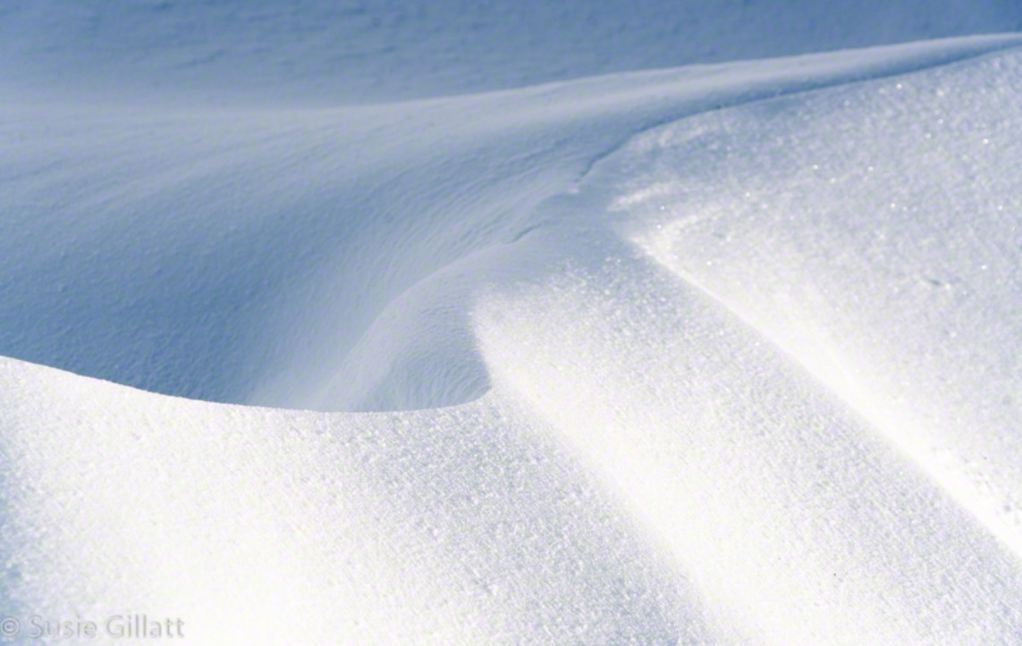 snow wave abstract