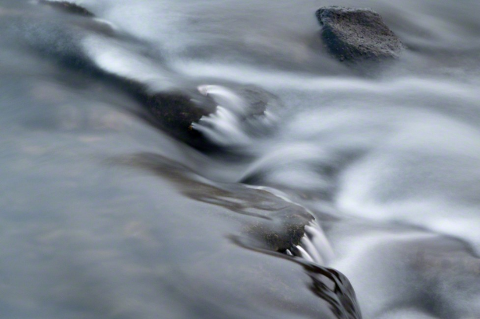 abstract water and rocks